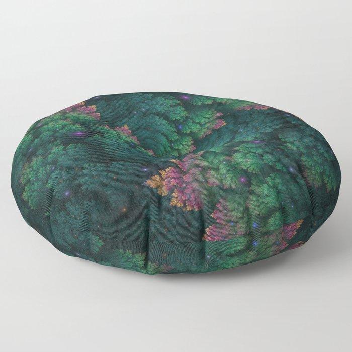 Cosmic Flora Floor Pillow