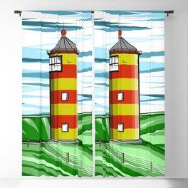 Pilsum Lighthouse Blackout Curtain