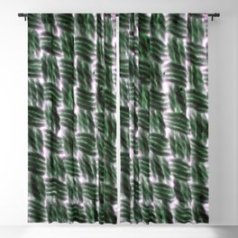 Macrame Square Knots: Green With Pink Accents Blackout Curtain