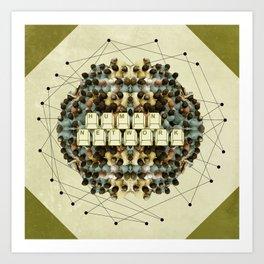 Human Network Art Print