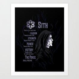 Sith code 2 Art Print