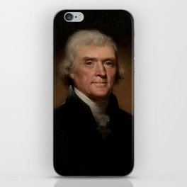 portrait of Thomas Jefferson by Rembrandt Peale iPhone Skin