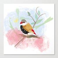 birdy Canvas Prints featuring Birdy by Lorene R illustration