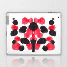 Red & Black Inkblot Colorful Pattern Laptop & iPad Skin