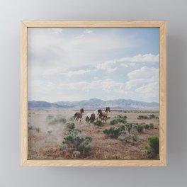 Running Horses Framed Mini Art Print