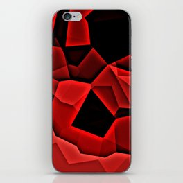 Pixel Crystal Pattern Red and Black iPhone Skin