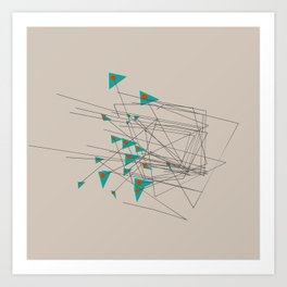 squiggles 1 Art Print