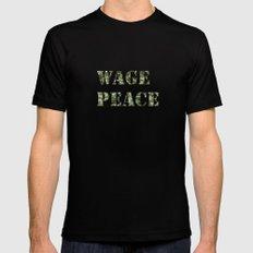 WAGE PEACE MEDIUM Mens Fitted Tee Black