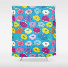 Donuts In The Sky By Everett Co Shower Curtain