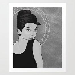 Audrey Hepburn Portriat Art Print