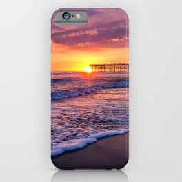 Sunset & Foamy Wave iPhone Case