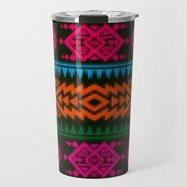 Ethnic Knitted pattern Travel Mug
