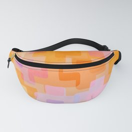 It All Adds Up / Abstract Shapes Pattern Fanny Pack