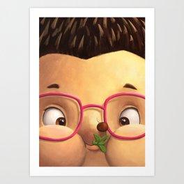 Ella the Hedgehog close-up Art Print