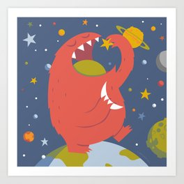 Star Eating Monster Art Print