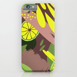 Abstract Hand Drawn Botanical Collection, No 02 iPhone Case