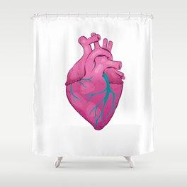 Hearts 01 - Human Heart (Transparent) Shower Curtain