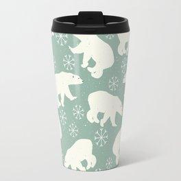 Merry Christmas - Polar bear - Animal pattern Travel Mug