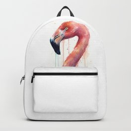 Pink Flamingo Painting Backpack