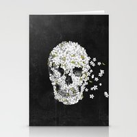 death Stationery Cards featuring A Beautiful Death - mono by Terry Fan