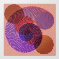 arya Canvas Prints featuring Spiral Nautical Shell by Hinal Arya