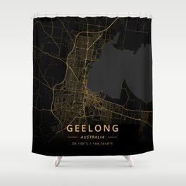 Geelong, Australia - Gold Shower Curtain