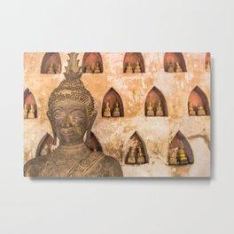 Wat Si Saket Buddhas VI, Vientiane, Laos Metal Print