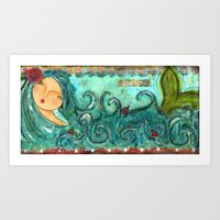 Isabella The Sea Mermaid Art Print