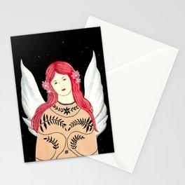 Pink Braids Stationery Cards