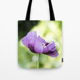 Hungarian Blue Bread Seed Poppy In Bloom Tote Bag
