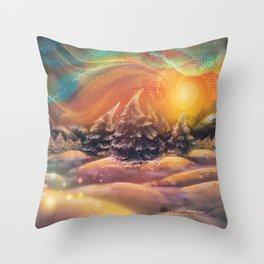 Snow Bliss Throw Pillow