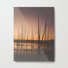 Sunset, Yellowstone National Park Metal Print