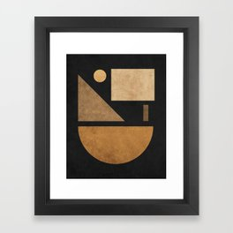 Geometric Harmony Black 03 - Minimal Abstract Framed Art Print
