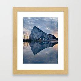 The rock of Gibraltar Framed Art Print