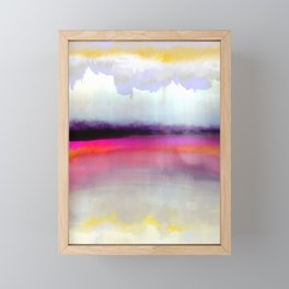 Pink Silver Framed Mini Art Print