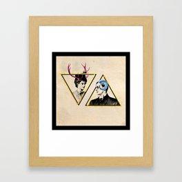 here's a balance Framed Art Print