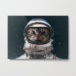 Space catet Metal Print