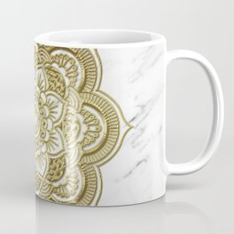 Gold mandala on marble Coffee Mug