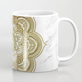 Gold mandala on marble Coffee Mug