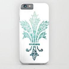 Fleur De Lis - French - Blue iPhone 6s Slim Case