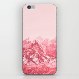 Mountains Red iPhone Skin