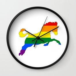 Rainbow Horse Wall Clock