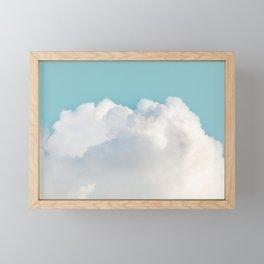 Cotton Clouds Teal Sky Framed Mini Art Print