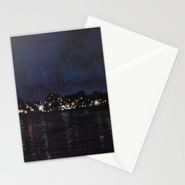 Midland Harbour at Night Stationery Cards