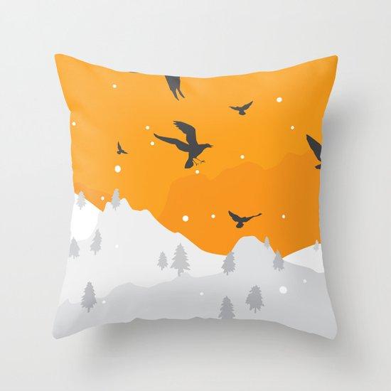 Winter Hills Throw Pillow