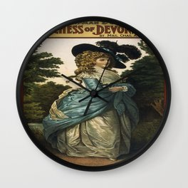 Vintage poster - Duchess of Devonshire Wall Clock