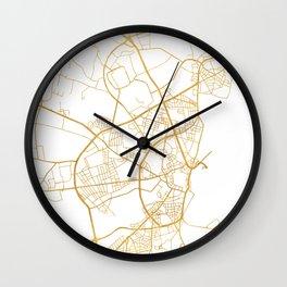AARHUS DENMARK CITY STREET MAP ART Wall Clock