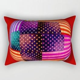 American Flags Orb Rectangular Pillow