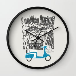 Brighton Cityscape Wall Clock