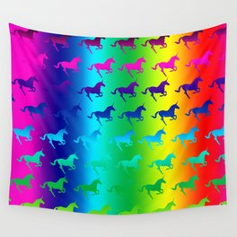 Psychedelic Unicorn Pattern Wall Tapestry